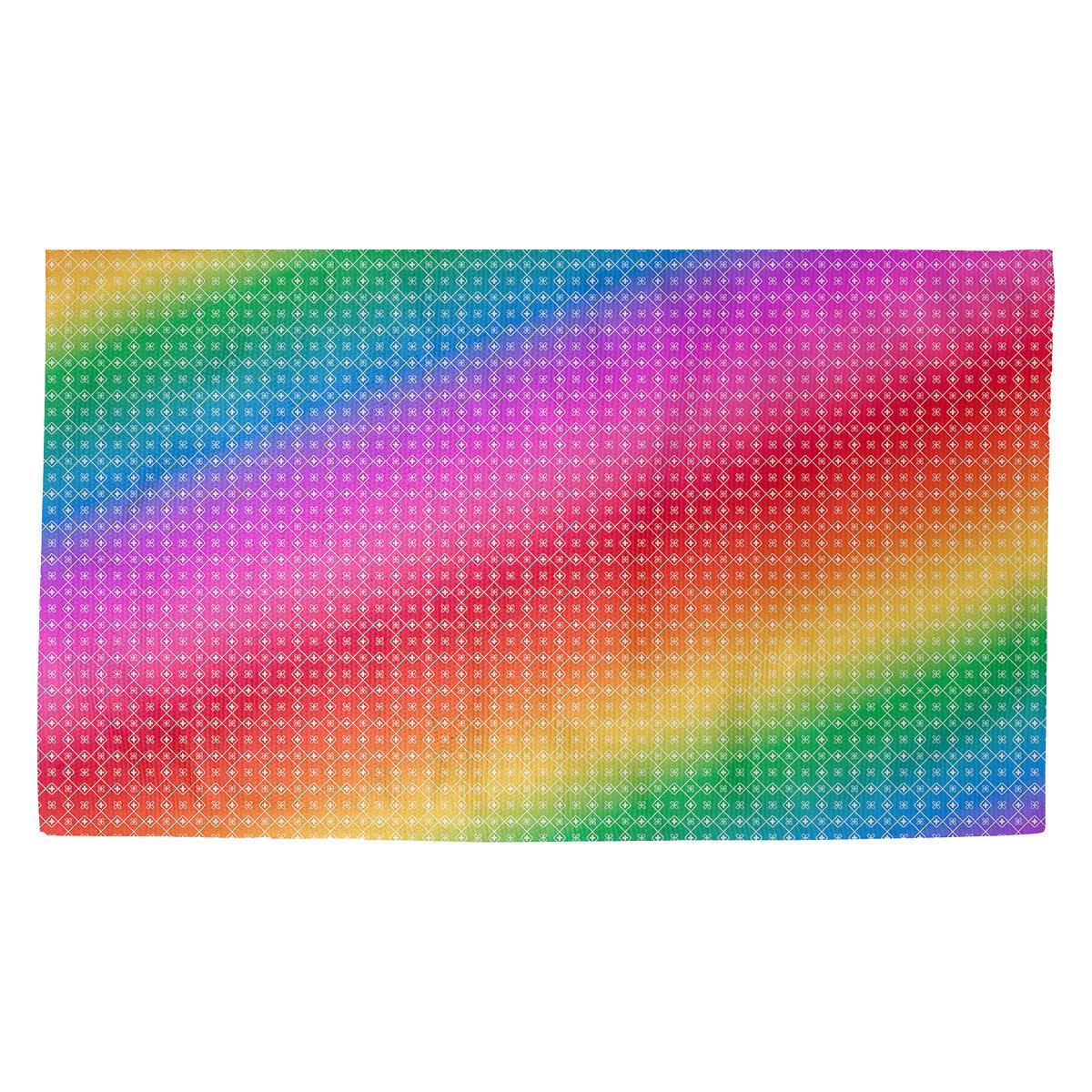 Latitude Run Avicia Doily Pink/Yellow/Green Area Rug