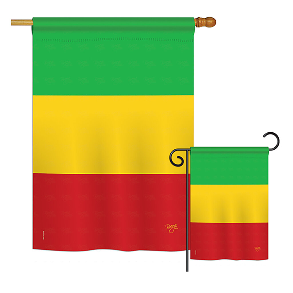 Breeze Decor Mali Of The World Nationality Impressions Decorative Vertical 2 Sided Polyester Flag Set Wayfair