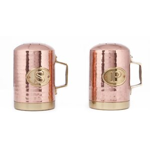 Hammered Copper Salt & Pepper Shakers
