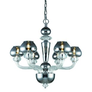 Brayden Studio Cinnamon 6-Light Shaded Chandelier
