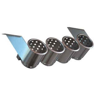 4 Hole Under Bar Dispenser Flatware Caddy