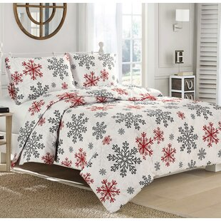 Red Snowflake 100% Cotton Sheet Set