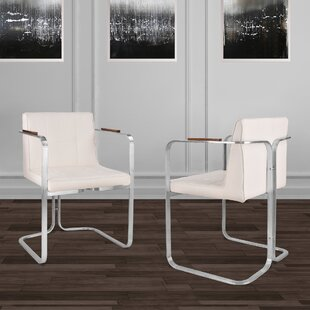 Varga Upholstered Dining Chair (Set Of 2) by Orren Ellis Wonderful