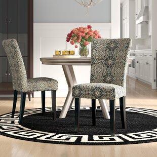 Willa Arlo Interiors Sture Damask Print Parson Chair (Set of 2)