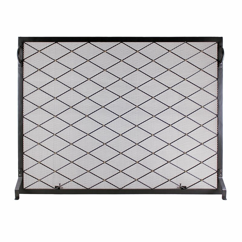 Harlequin Single Panel Iron Fireplace Screen