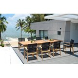 Loughton Outdoor 9 Piece Teak Dining Set