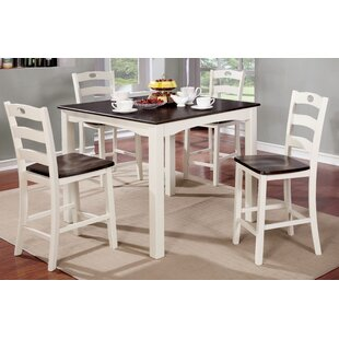 Gullo Transitional Counter Height Dining Set Alcott Hill