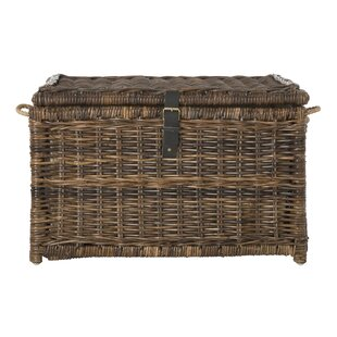 Highland Dunes Ammann Wicker Storage Trunk