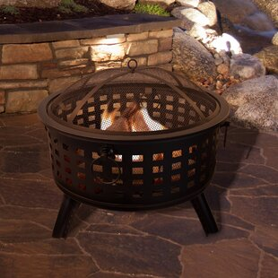 Pure Garden Round Steel Wood Burning Fire..