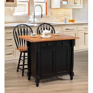 Azriel Drop Leaf Kitchen Island Set