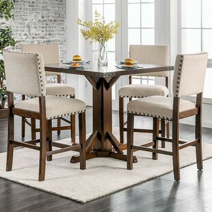 Rice 5 Piece Counter Height Dining Set Gracie Oaks