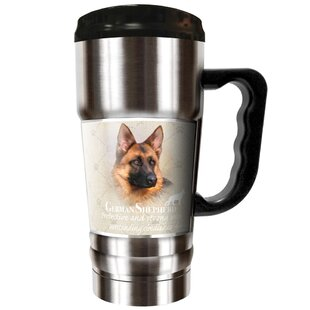 Howard Robinson's German Shepherd 20 oz. Stainless Steel Travel Tumbler