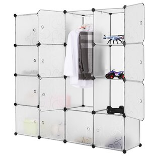 Find a Flanagan 9 W 16-Cube Modular Storage Closet By Rebrilliant