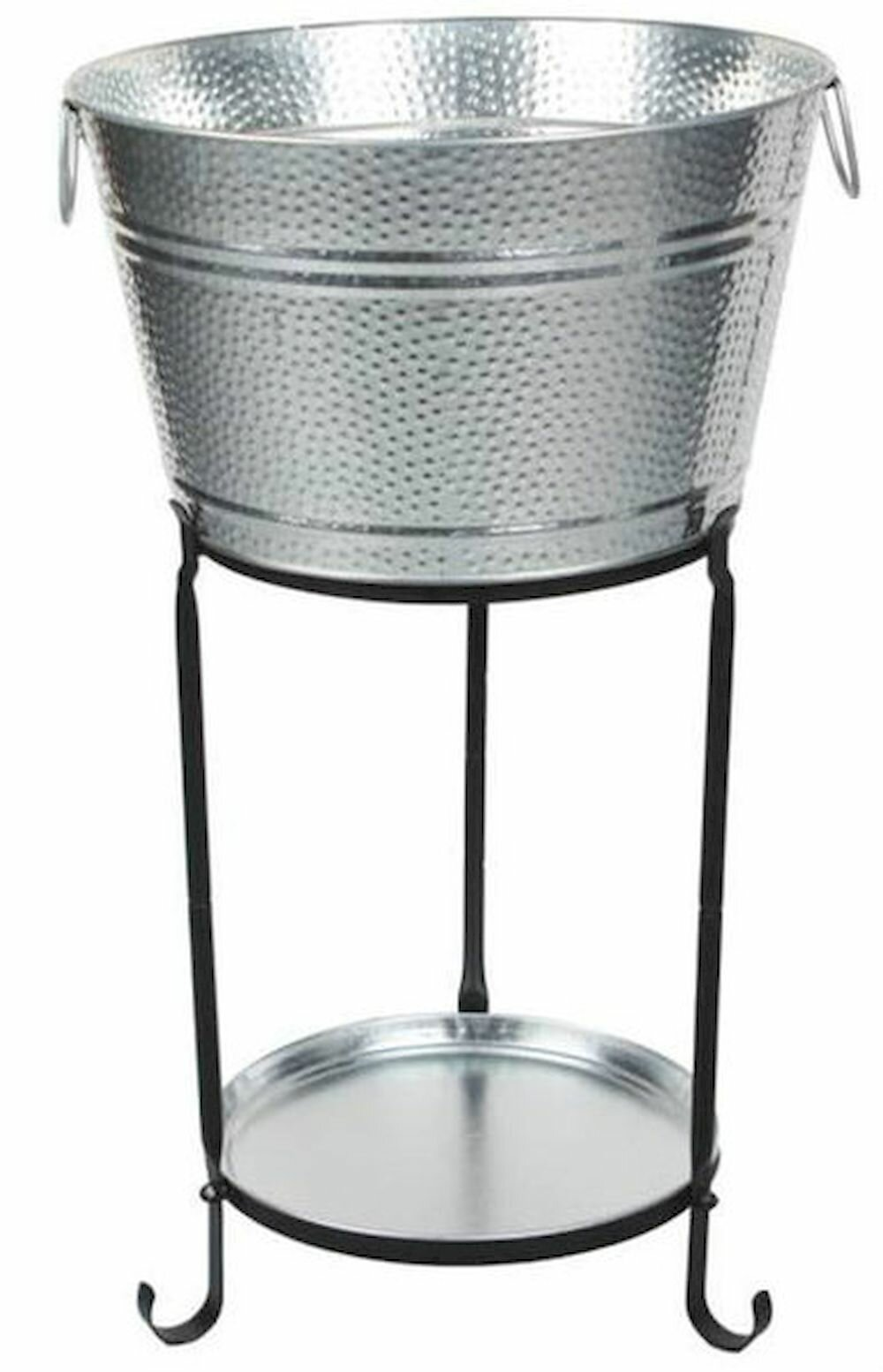 Picture of: Darby Home Co Ulyana Galvanized Round Party Beverage Tub With Stand And Round Tray Wayfair