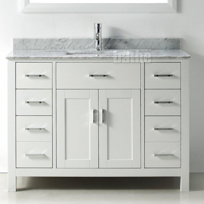 "Belvederebath Signature Series 48"" Single Bathroom Vanity Set"