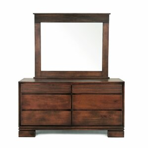 Vienna 6 Drawer Dresser with Mirror by..