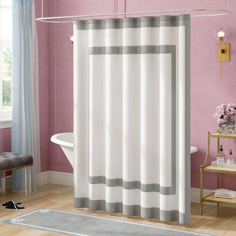 Willa arlo interiors cohle cotton single shower curtain - Willa arlo interiors keeley bar cart ...