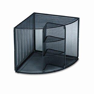 Rolodex Corporation Mesh Corner Desktop Shelf