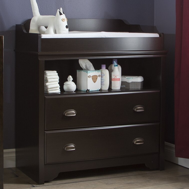 South Shore Furniture Fundy Tide Changing Table Espresso