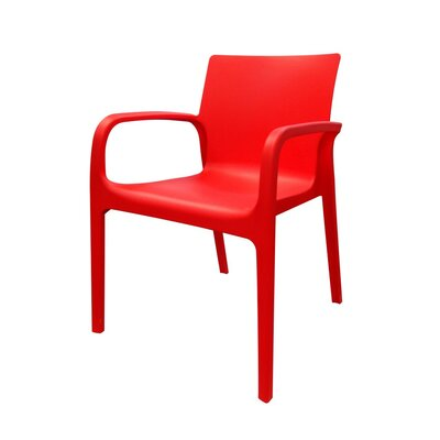 Loggins Patio Dining Chair (Set of 2) Brayden Studio Color: Red