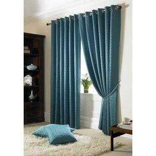 Teal Patterned Curtains