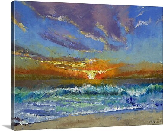Great Big Canvas Malibu Beach Sunset By Michael Creese Painting Print Wayfair Ca