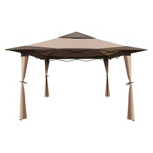Double Roof Sun Shade Patio 10 Ft. W x 10 Ft. D Metal Pop-Up Gazebo by ALEKO