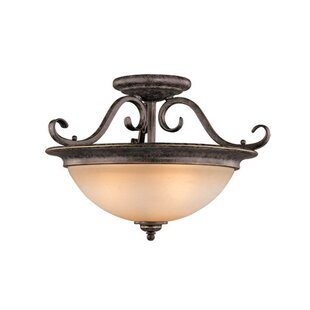 Brosnan Semi Flush Mount by Fleur De Lis Living