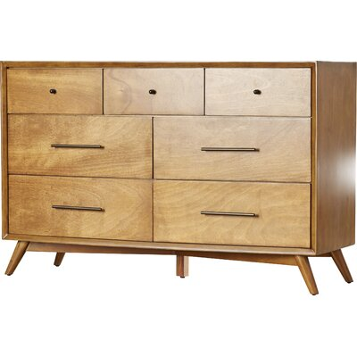 Pleasing Langley Street Parocela 7 Drawer Dresser Color Acorn Inzonedesignstudio Interior Chair Design Inzonedesignstudiocom