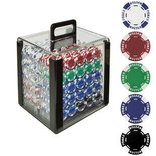 Holdem Case with Poker Chip (Set of 1000) by Trademark Global