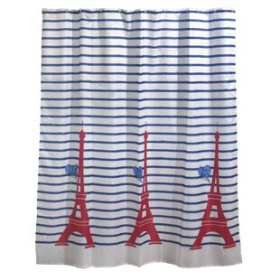 Price comparison Paris Je t'aime Printed Fabric Shower Curtain By Evideco