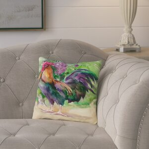 Elaine Rooster and Grapes Throw Pillow