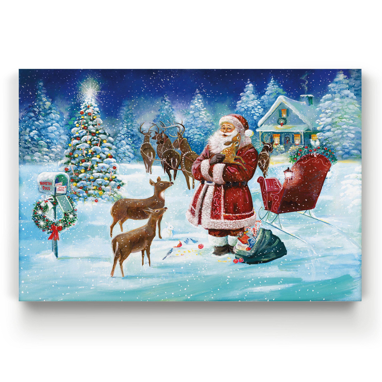 The Holiday Aisle North Pole Gallery By Parvez Taj 1 Piece Wrapped Canvas Print Wayfair