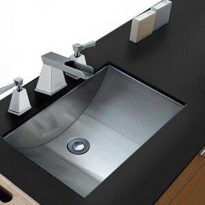 Ariaso Metal Rectangular Undermount Bathroom Sink