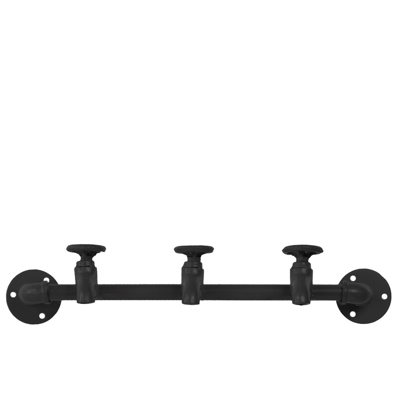 Urban Trends Metal Wall Mounted Coat Rack Wayfair Stunning Black Metal Wall Mounted Coat Rack