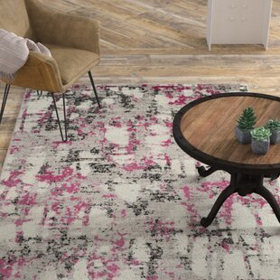 Bargain Despain Power Loomed Gray/Pink Area Rug By Williston Forge