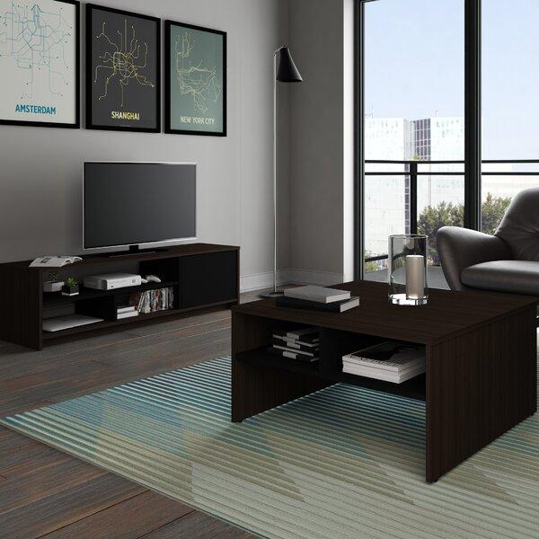 Zipcode Design Smit 2 Piece Storage Coffee Table And Tv Stand Set Reviews Wayfair