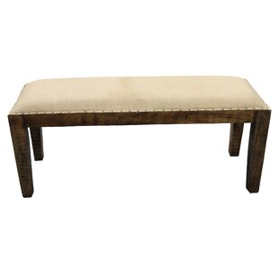 Gracie Oaks Elias Wood Bench