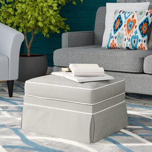 Foote Skirted Ottoman with Contrasting Welt by Wayfair Custom Upholstery™