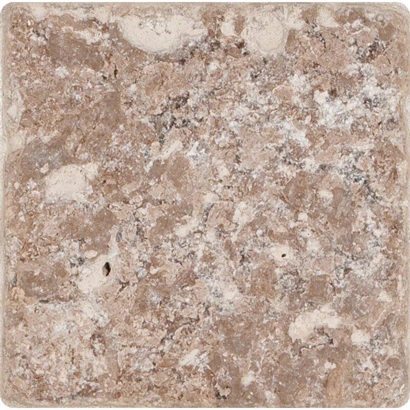 MSI X Travertine Field Tile In Tumbled Brown Reviews Wayfair - 6 inch travertine tile