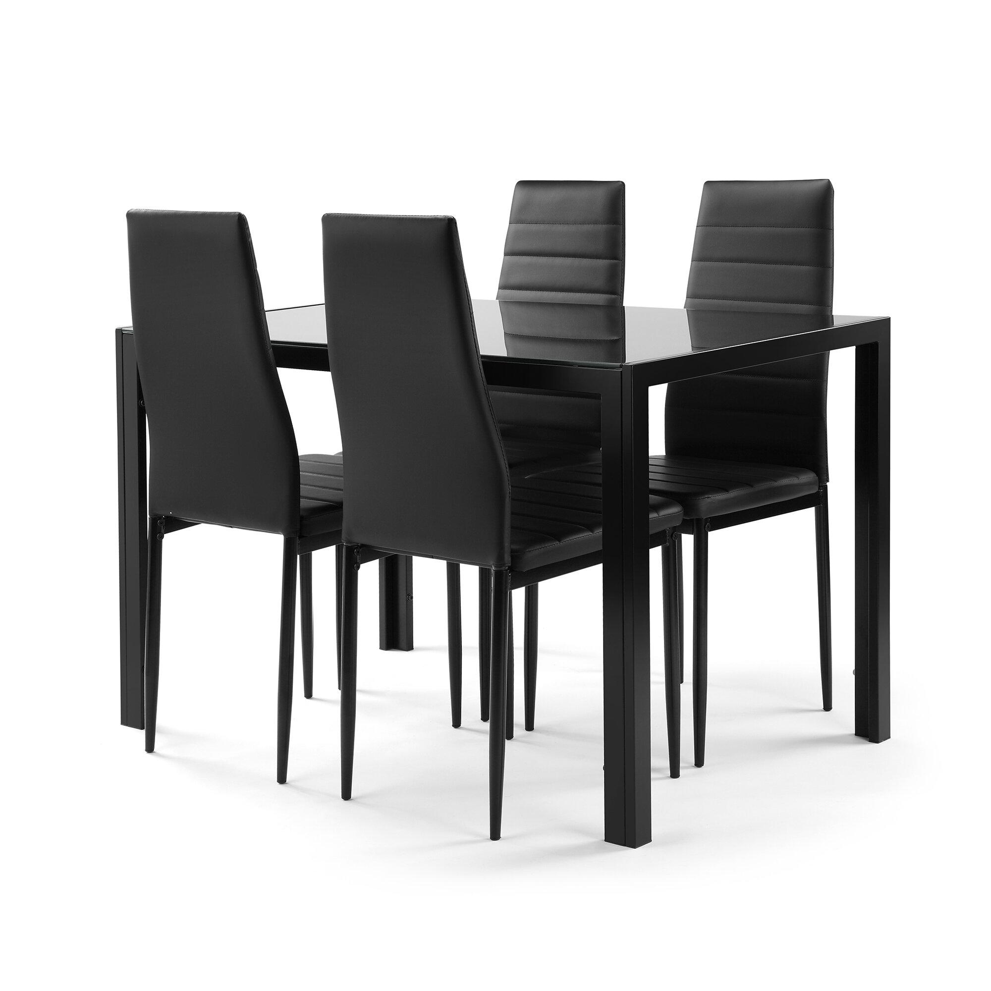 Ebern Designs Altonio 5 Piece Dining Set Wayfair