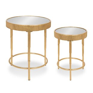 Marley Round 2-Piece Modern Accent Nesting Tables