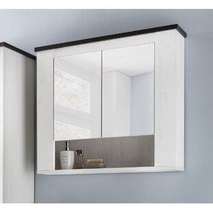 Rotan 77 x 71.7cm Wall Mounted Mirror Cabinet by Metro Lane