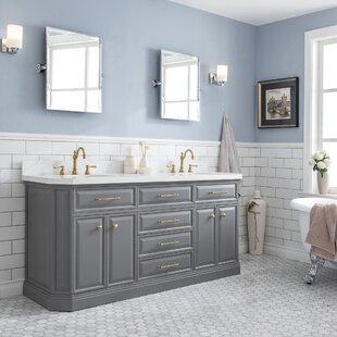 Oliphant Quartz 72 Double Bathroom Vanity Setwith Mirror