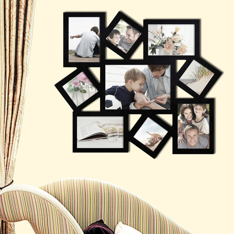 Photo Wall Collage Without Frames 17 Layout Ideas wall hanging