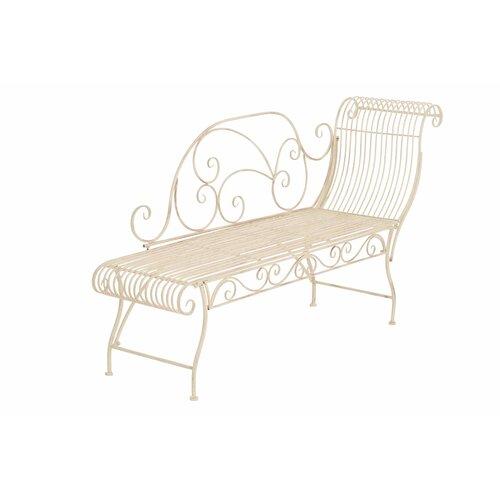 1-Sitzer Gartenbank Shakra aus Metall Home & Haus Farbe: Crème antik | Küche und Esszimmer > Sitzbänke > Einfache Sitzbänke | Home & Haus