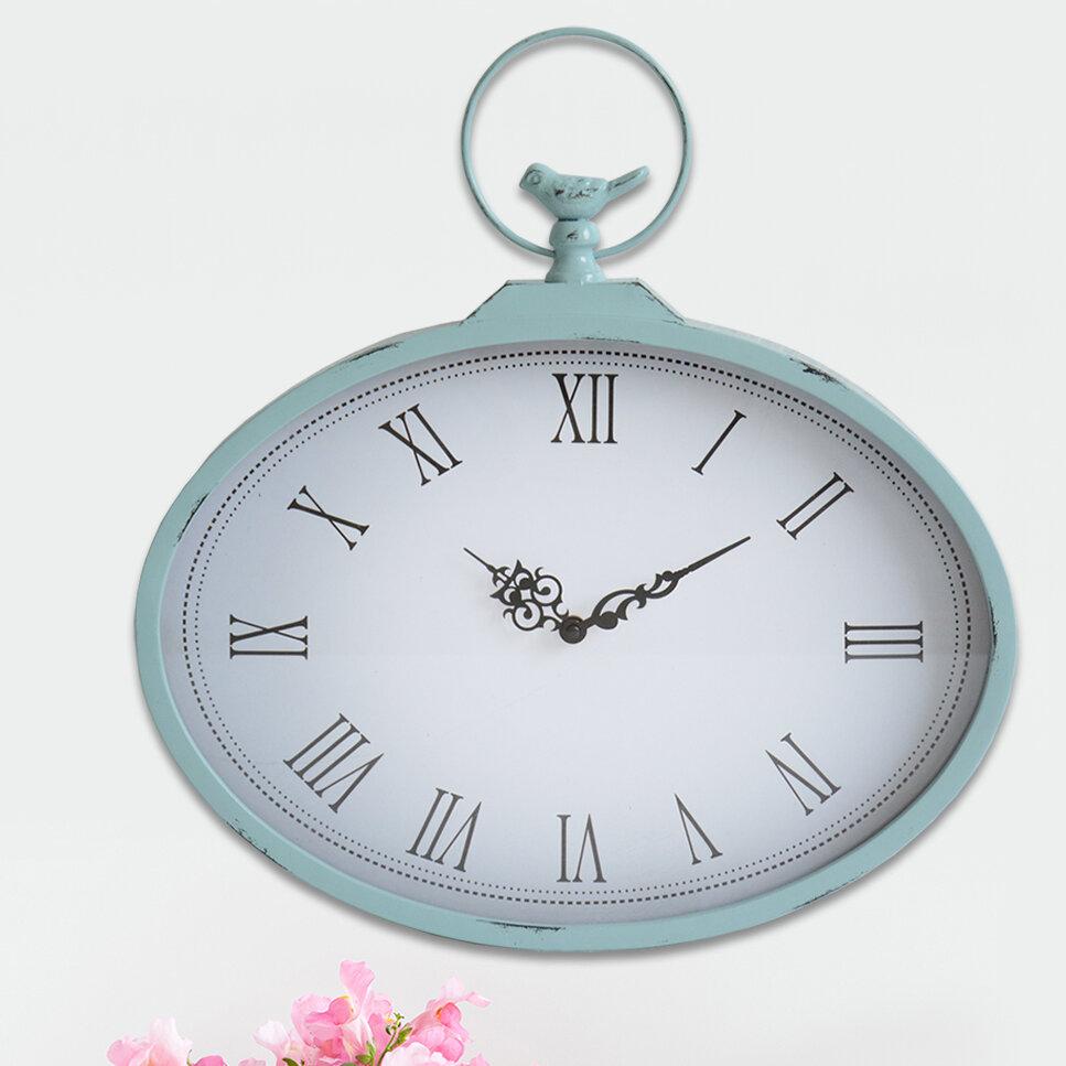 266615e35 Stratton Home Decor Shabby Wall Clock   Reviews
