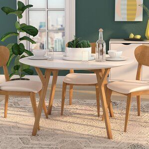 Round Modern Dining Room Sets Round Kitchen U0026 Dining Tables Youu0027ll Love |  Wayfair