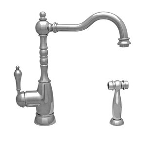 Whitehaus Collection Englishhaus Single Handle Kitchen Faucet with Side Spray