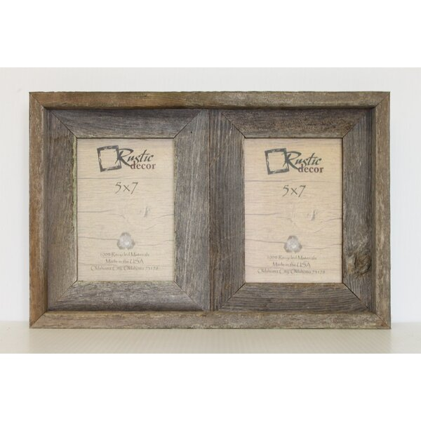 Rusticdecor Barn Wood 2 Opening Picture Frame Reviews Wayfair